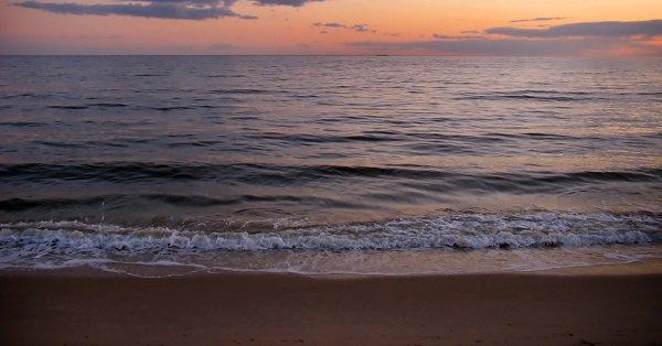 A pretty sunset at a New England beach - Connecticut, USA