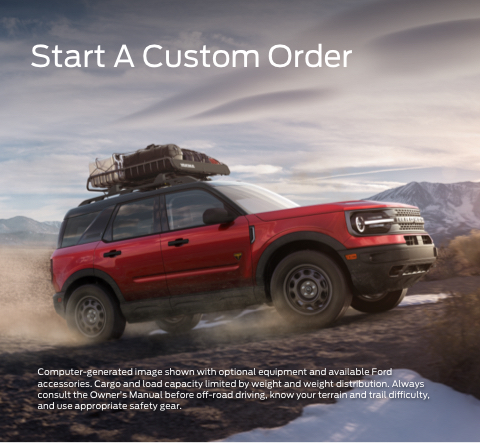 Start a Custom Order -Red Bronco Sport